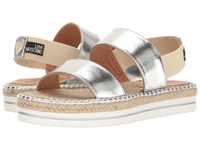 Love Moschino Metallic Sandal Espadrille Silver Women's Shoes