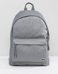 Lacoste Logo Backpack Grey Grey