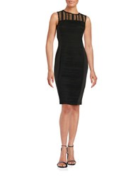Taylor Lace Accented Sheath Dress Black