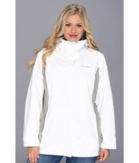 Columbia Plus Size Arcadia Ii Jacket White Flint Grey Women's Coat