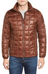 Men's Rainforest Regular Fit Quilted Thermoluxe Packable Puffer Jacket Chocolate