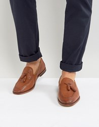 Asos Loafers In Tan Leather With Tassel Tan