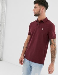 Abercrombie And Fitch Icon Logo Pique Polo In Burgundy Red