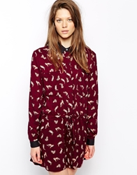 Paul And Joe Sister Playsuit In Fox Print Bordeaux