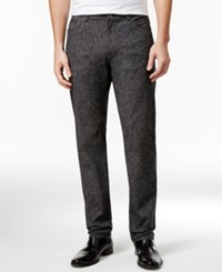 Calvin Klein Men's Classic Fit Black Marled Pants