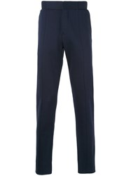 Berluti Gathered Ankle Trousers Men Cotton 50 Blue