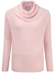Pure Collection Hadleigh Drape Neck Gassato Jumper Rose Mist