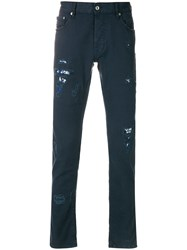 Just Cavalli Distressed Effect Jeans Blue