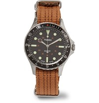 Timex Navi Harbor Stainless Steel And Webbing Watch Tan