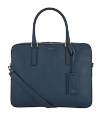 Sandro Leather Briefcase Blue
