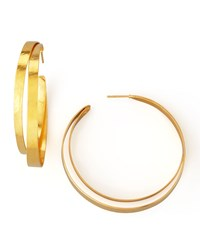 Ruban Small Hoop Earrings Herve Van Der Straeten Gold