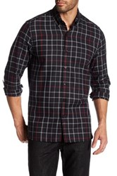Peter Werth Keen Gingham Trim Fit Shirt Gray