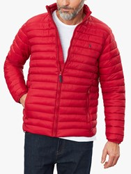 Joules Hooded Go To Quilted Jacket Red
