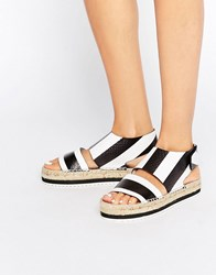 Miista Paola Leather Espadrille Sandals Black