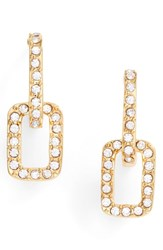Vince Camuto Pave Link Stud Earrings Gold
