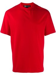 Y 3 Classic Crew Neck T Shirt Red