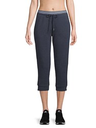 Marc New York Striped Cropped Jogger Pants Optic Heather