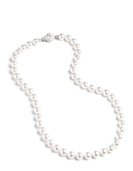 Nadri Knotted Faux Pearl Necklace White