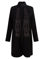 East Embroidered Wool Coat Black