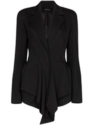 Thierry Mugler Draped Fitted Blazer 60