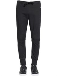 Dolce And Gabbana Stretch Cotton Twill Biker Jogging Pants