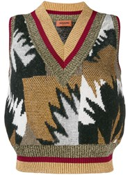 Missoni Intarsia Knit Vest White
