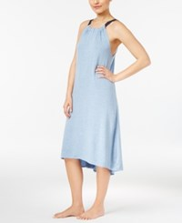 Lucky Brand French Terry High Low Nightgown Light Blue