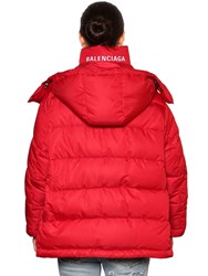 Balenciaga Back Logo Nylon Puffer Red