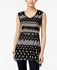 Styleandco. Style Co. Printed Sleeveless Top Only At Macy's Black