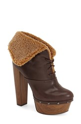 Women's Jessica Simpson 'Daane' Foldover Cuff Bootie Hot Chocolate Faux Leather