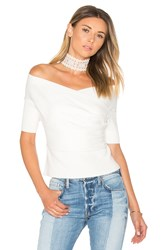 Michelle Mason Cross Wrap Sweater Ivory