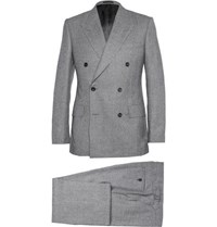 Kingsman Grey Double Breasted Prince Of Wales Check Suit Gray
