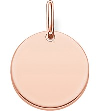 Thomas Sabo Love Bridge Engravable Rose Gold Plated Coin Pendant