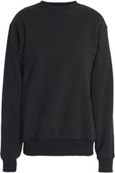 Oak Cotton Jersey Sweatshirt Black