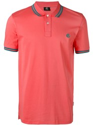 Paul Smith Ps By Logo Embroidered Polo Shirt Men Cotton S Yellow Orange