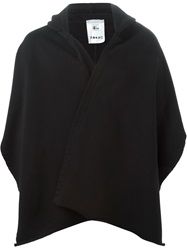 Lost And Found Strip Detailing Hooded Scarf Black
