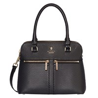 Modalu Pippa Small Leather Grab Bag Black Cube