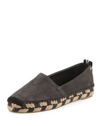 Rag And Bone Adria Suede Espadrille Flat Gray