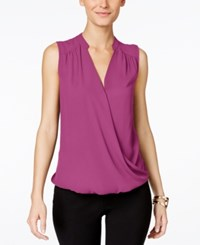 Inc International Concepts Sleeveless Surplice Top Only At Macy's