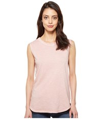 Alternative Apparel Inside Out Slub Sleeveless T Shirt Rose Quartz Pigment Women's Sleeveless Pink