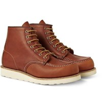 Red Wing Shoes 875 Moc Leather Boots Brown