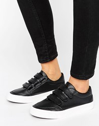 New Look Triple Strap Trainer Black