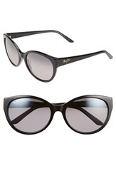 Maui Jim Women's 'Pools' 58Mm Polarized Sunglasses Black Charcoal Neutral Grey Black Charcoal Neutral Grey