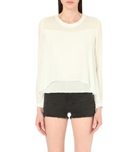 Allsaints Camber Woven Top Chalk White
