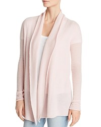 Bloomingdale's C By Open Front Cashmere Cardigan 100 Exclusive Light Pink