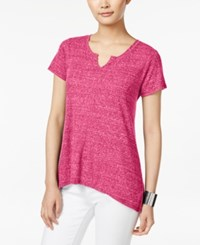 Styleandco. Style Co. Ribbed High Low T Shirt Only At Macy's Pink Breeze