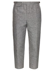Orley Pintuck Cotton And Silk Blend Trousers Grey
