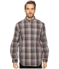 Carhartt Bellevue Long Sleeve Shirt Shadow Men's Long Sleeve Button Up Brown