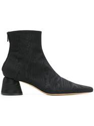 Ellery Pointed Ankle Boots Black