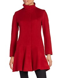 Sofia Cashmere Wool And Princess Coat Red